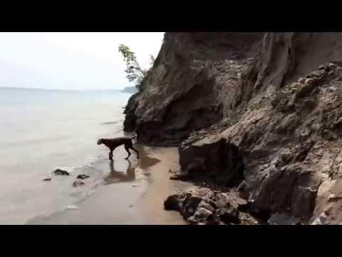 Walking the Eroded Shores of Lake Michigan