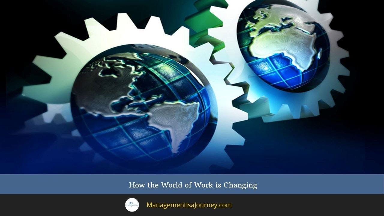 changing world of work Ideas of flexible working have moved beyond the option to work from the office or  from home, to being able to work anywhere the reality of anywhere working,.