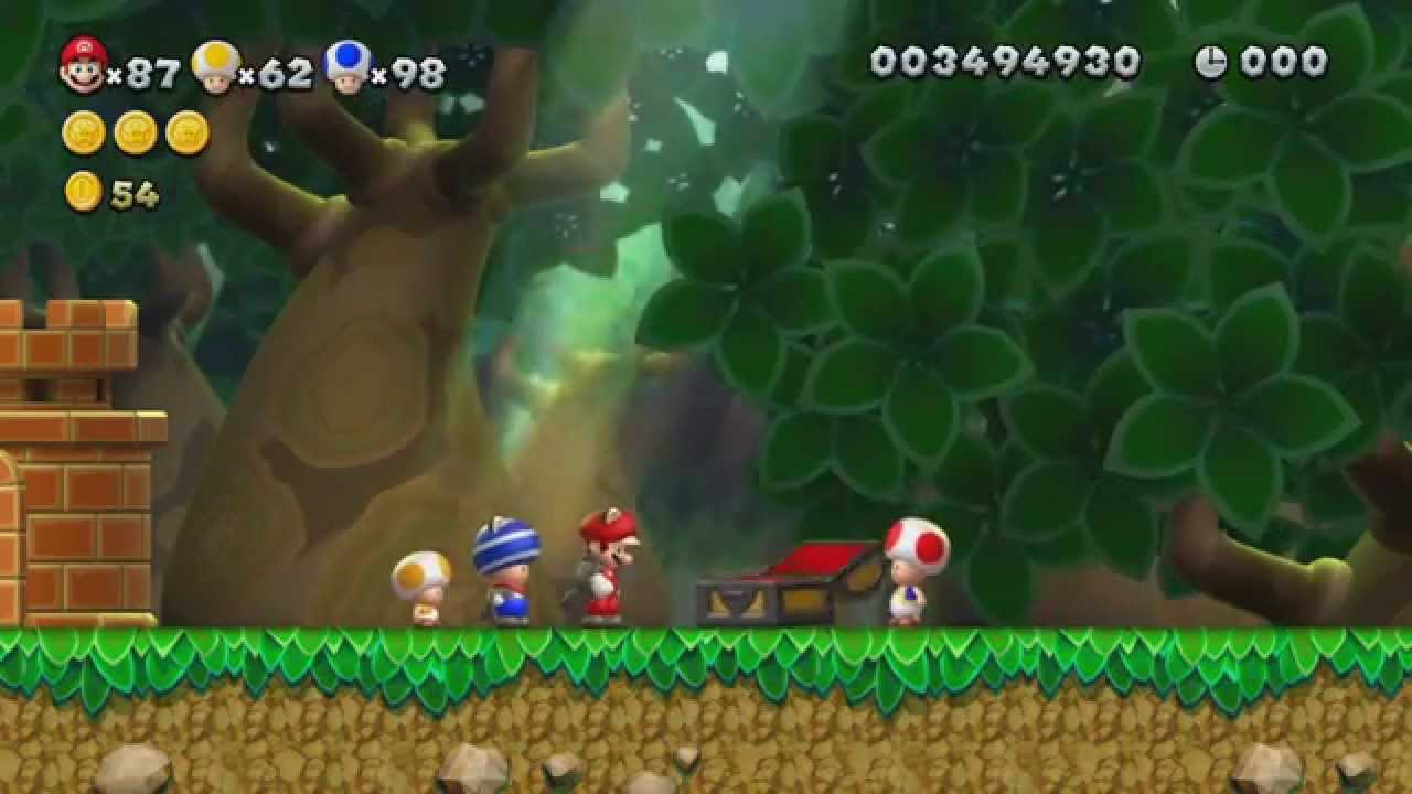 New Super Mario Bros U 100 Walkthrough Episode 13 World 5