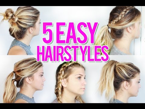 5 Easy Back To School Hairstyles 2016 Youtube