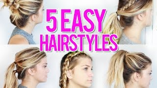 5 EASY Back To School Hairstyles 2016