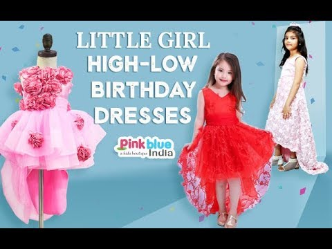 Little Girl High-Low Birthday Dresses Collection | Kids High Low Wedding Dress