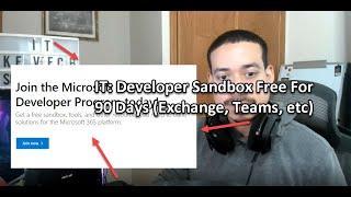 IT: Developer Sandbox Free For 90 Days (Exchange, Teams, etc)