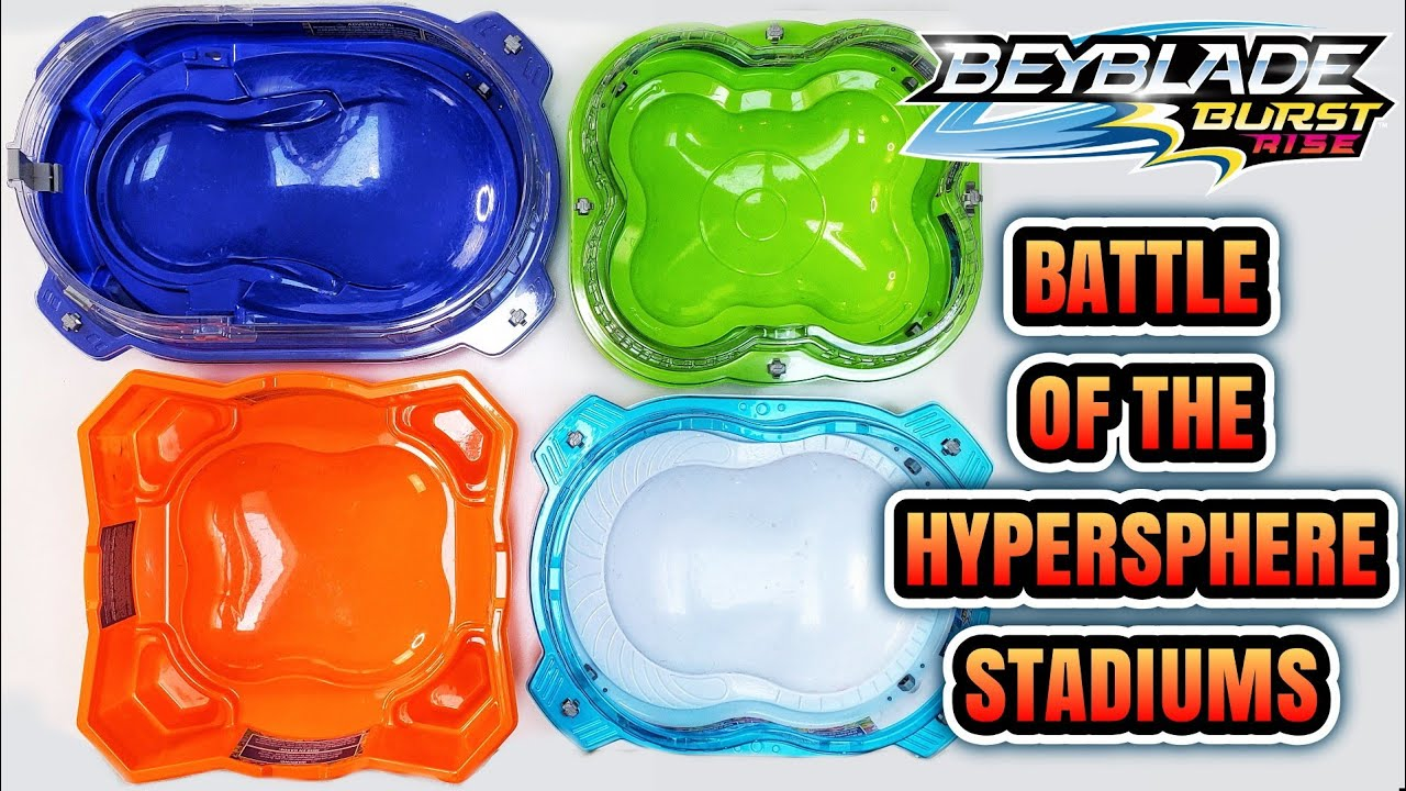 Comparing all Hasbro Beyblade Burst Rise Hypersphere Beystadiums! Which One is the Best?