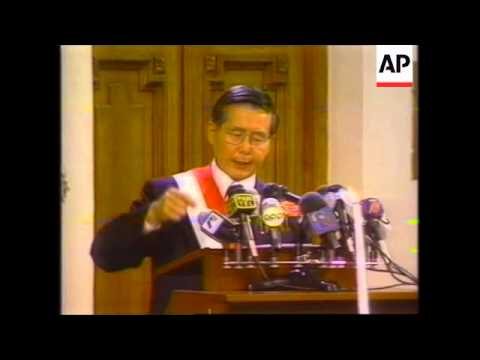 PERU: PRESIDENT FUJIMORI TAKES PRESIDENTIAL OATH OF OFFICE