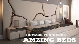 STYLISH BEDS FOR MASTER BEDROOM AND SMALL ROOMS | HOMEAGE FURNITURE NEW DELHI