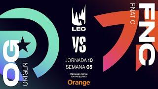 Origen vs Fnatic   LEC Spring split 2020   Semana 5   League of Legends