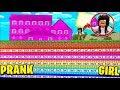 FUNNY MINECRAFT PRANKS on GIRLS! (Minecraft Hack Troll)
