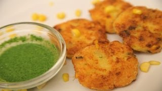 Makkai Malai Tikki (baked Potato And Corn Cakes)  By Arina
