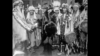 Glacier Park Indians - White Dog Song Grass Dance  1914 Blackfoot Indian Tribe (Blackfeet)