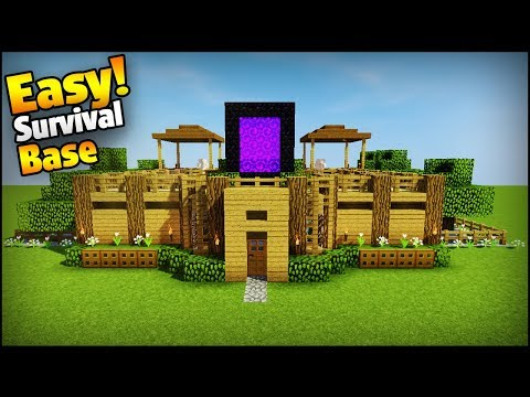 Minecraft: 2 Player Ultimate Survival Base - Easy Tutorial (Everything You Need To Survive!)