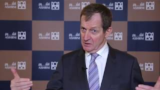 Alastair Campbell, author and political strategist, interviewed at ASHRM 2018