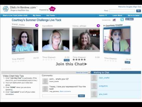 Courtney's Summer Challenge Live Yackit Event