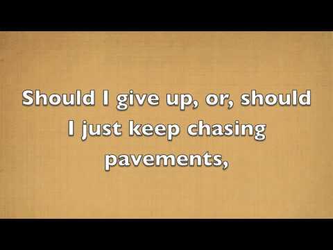 Chasing Pavements  Adele lyrics