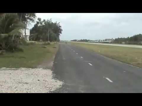 Funafuti Airport Runway in Tuvalu ..... Feb 2003