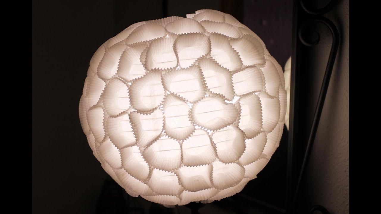 L mpara hecha con moldes de magdalenas tutorial diy - Hacer magdalenas con ninos ...