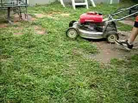 Honda Hr215 Shaft Driven Commercial Garde Lawnmower Youtube