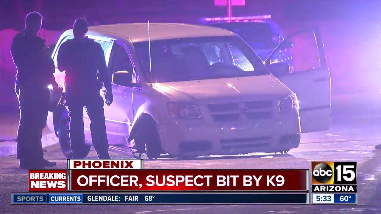 Mesa Police: Burglary suspect, officer bit by K-9