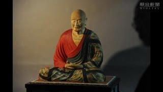 奈良・唐招提寺の国宝、鑑真和上坐像(8世紀、脱活乾漆造)を模造した...