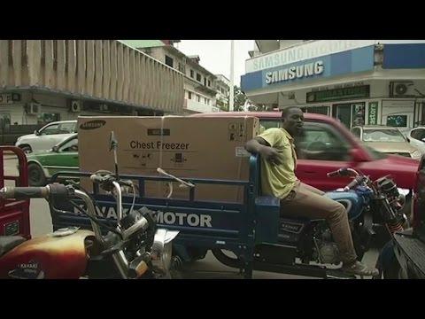 République du congo, Les motos à trois roues, un moyen de transport urbain