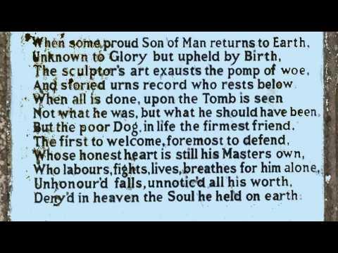 Epitaph to a Dog by George Gordon, Lord Byron (read by Tom O'Bedlam)