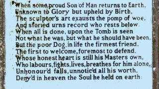 Epitaph to a Dog by George Gordon, Lord Byron (read by Tom O