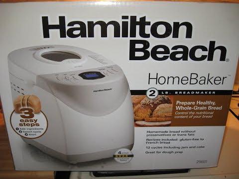introducing my new HAMILTON BEACH HOME BAKER BREAD MACHINE model 29881 Walmart $39.97 & easy bread