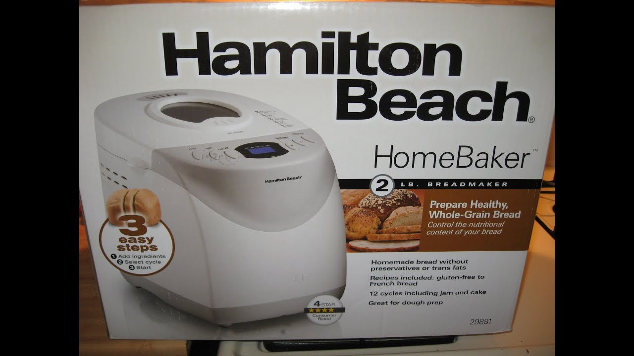 Introducing My New Hamilton Beach Home Baker Bread Machine