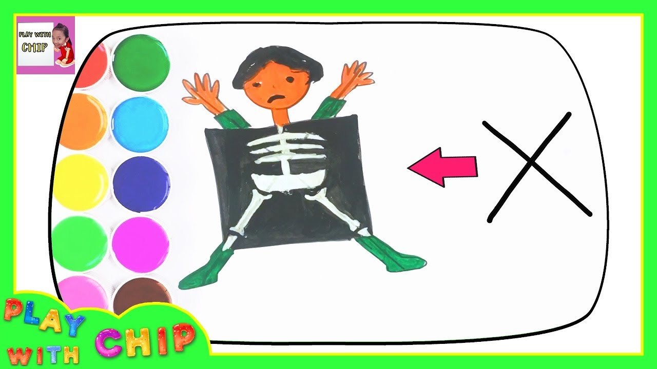 X Ray Drawing And Coloring For Kids Drawing Tutorial Youtube