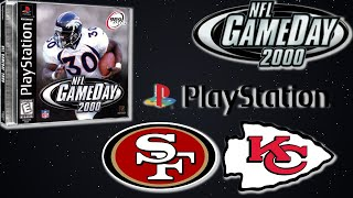 NFL GAMEDAY 2000 PlayStation Gameplay - San Francisco 49ers @ Kansas City Chiefs