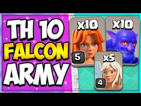 Best TH 10 Falcon Attack Guide | Mass Valkyrie Bowler | TH 10 Attack Strategy | Clash Of Clans