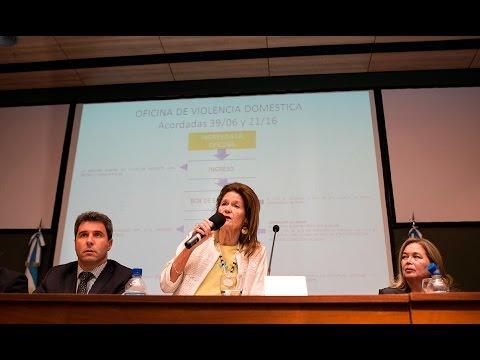 Elena Highton de Nolasco encabezó el acto de apertura del XXIII Encuentro Nacional de Mujeres Jueces de Argentina