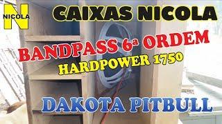 Projeto de caixa de grave Bandpass - HARDPOWER - DAKOTA PIT BULL - CAIXAS NICOLA (((Nicola Jr)))