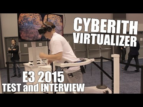 Cyberith Virtualizer E3 2015 Test and Interview with CEO Tuncay Cakmak (1080p) HD!