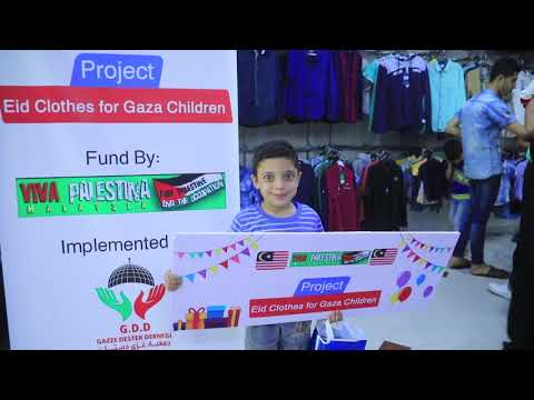 Eid Clothes for Gaza Children - Funded By VPM