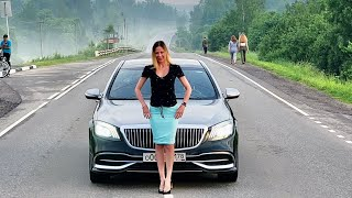 Mercedes Maybach из такси. Это вам не новый Volkswagen Polo. Лиса рулит