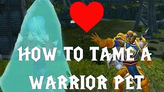 How to tame a Warrior pet - Vanilla WoW