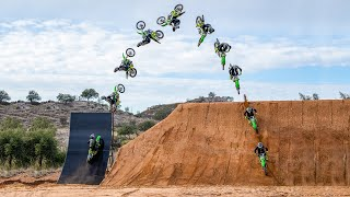 Monster Energy | Axell Hodges World's First Alley-Oop on a Quarter Pipe