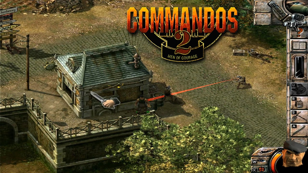 COMMANDOS 2 Men of Courage   Training Camp 2 - full gameplay walkthrough  with commentary (HD) - YouTube