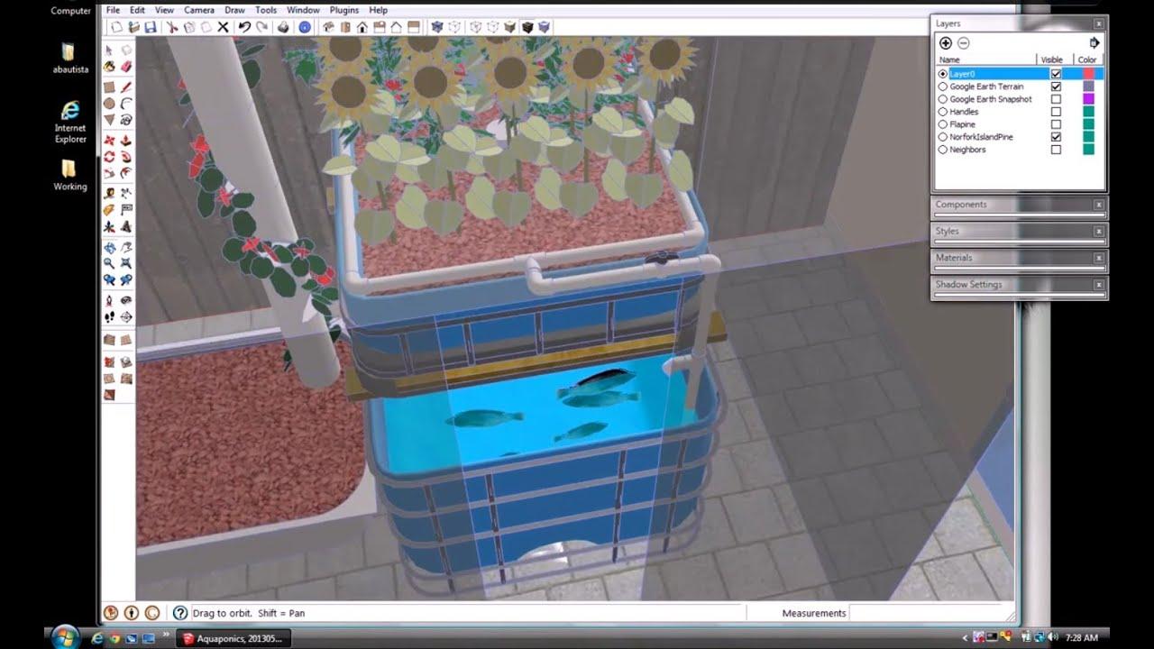 SketchUp Backyard Aquaponics Design Concept - YouTube on Sketchup Backyard id=74161