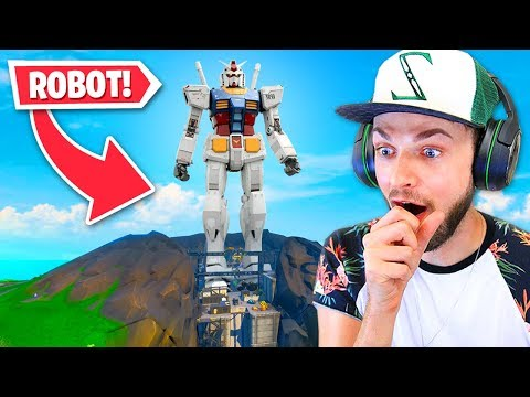 GIANT *ROBOT* being built NOW in Fortnite!