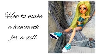 How to make a hammock for a doll - Doll