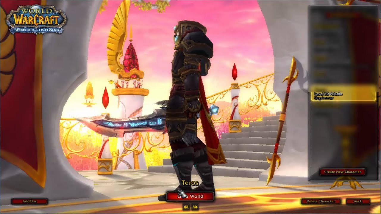 wow - paladin furious gladiator u0026 39 s pvp set   full  hd