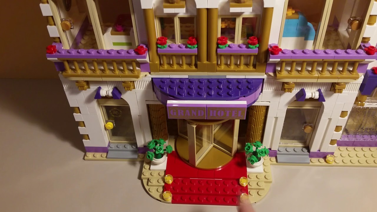El Gran Hotel De Heartlake City 41101 Lego Friends Spa Youtube