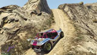 GTA V - Climbing The Highest Mountain & Fall Down