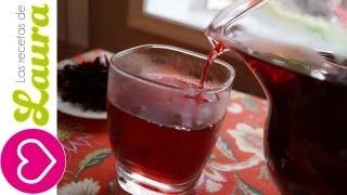 Agua De Jamaica Las Recetas De Laura Mexican Beverages Diuréticos