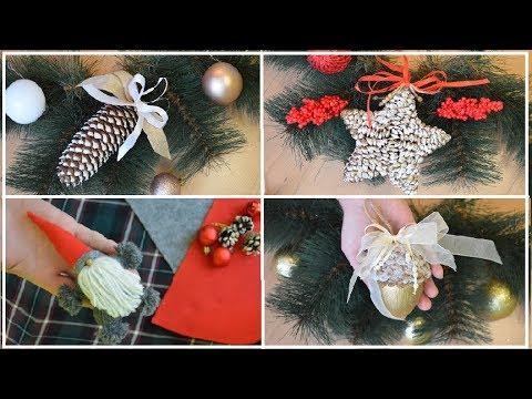 Вопрос: Как сделать новогодние елочные украшения?