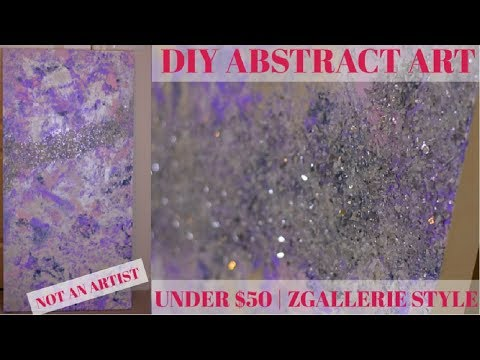 DIY Abstract Wall Art | Zgallerie Inspired | Anyone can make this!