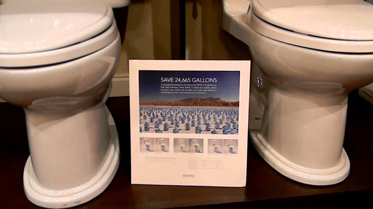 Toto Toilets and Water Savings in Atlanta - YouTube