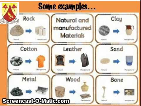 Eps gr4 revision n s t raw manufactured materials for List of natural items